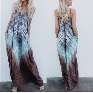 Dresses & Skirts - ❤️1 DAY SALE❤️TIE DYE M & M (MOCHA AND MINT MAXI)